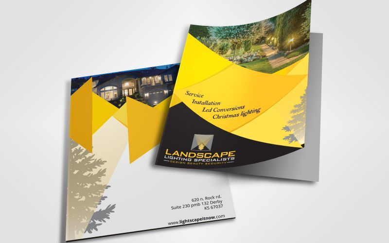 Landscape Lighting Specialists Brochure Design