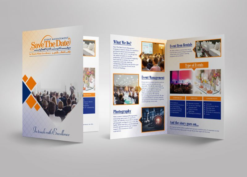 SavetheDate Event Management Brochure Design