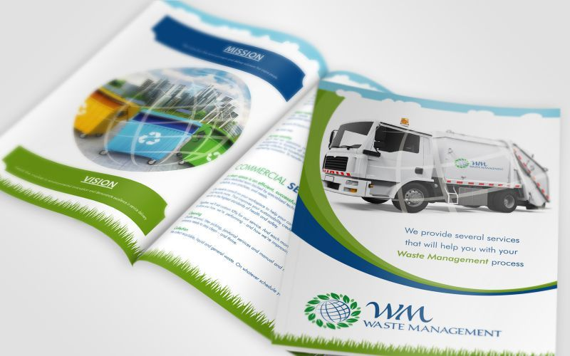 WM Waste Management Brochure Design