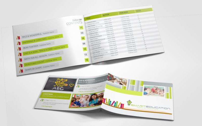 Smart Education Book Catalog Design