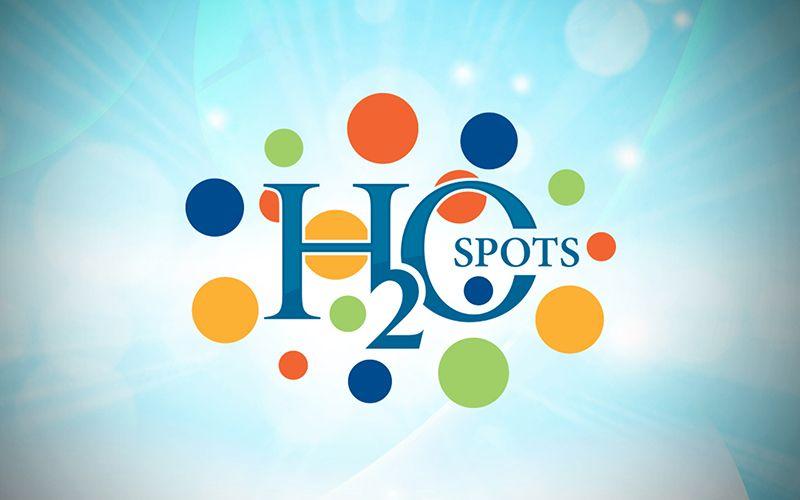 H2O Spots Logo Design