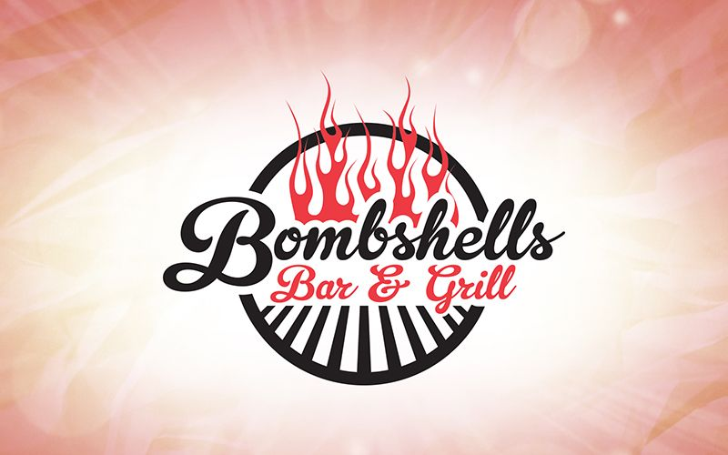 Bombshell Bar and Grill Logo Design