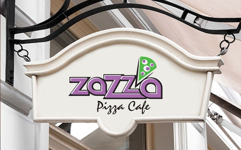 Zazza Pizza Cafe Logo Design