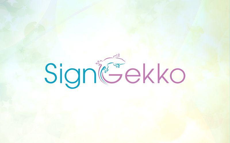 Sign Gekko Logo Design