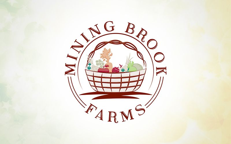 Mining Brooks Farms Logo Design