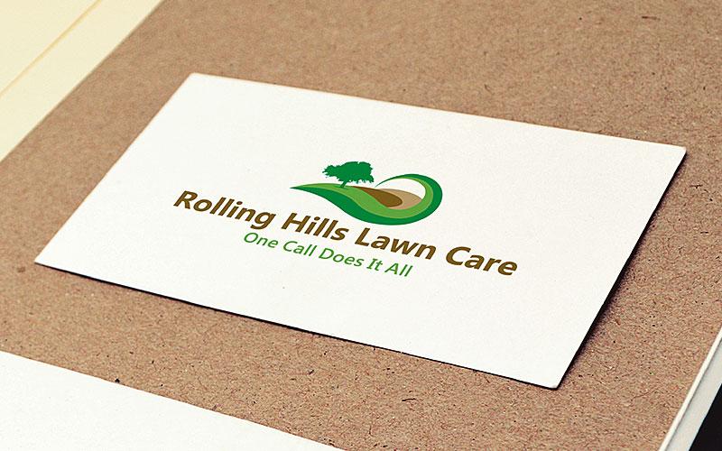 Rolling Hills Lawn Logo Design