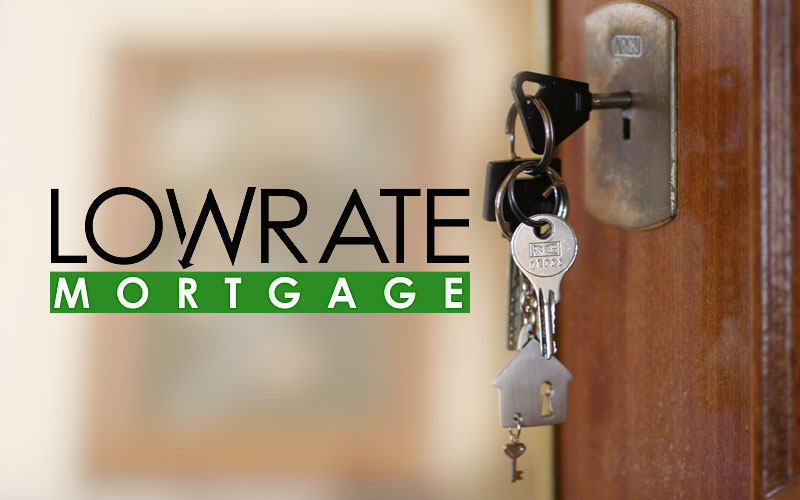 Low Rate Mortgage Logo Design