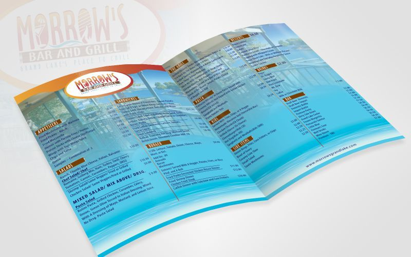 Morrow Bar And Grill Menu Design