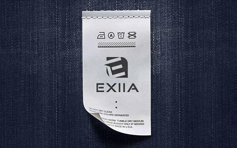 EXIIA Cloth Label Design