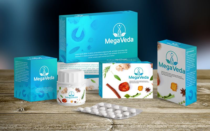 Megaveda Packaging Design