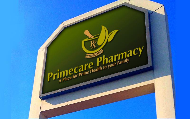 Primecare Pharmacy Signage Design
