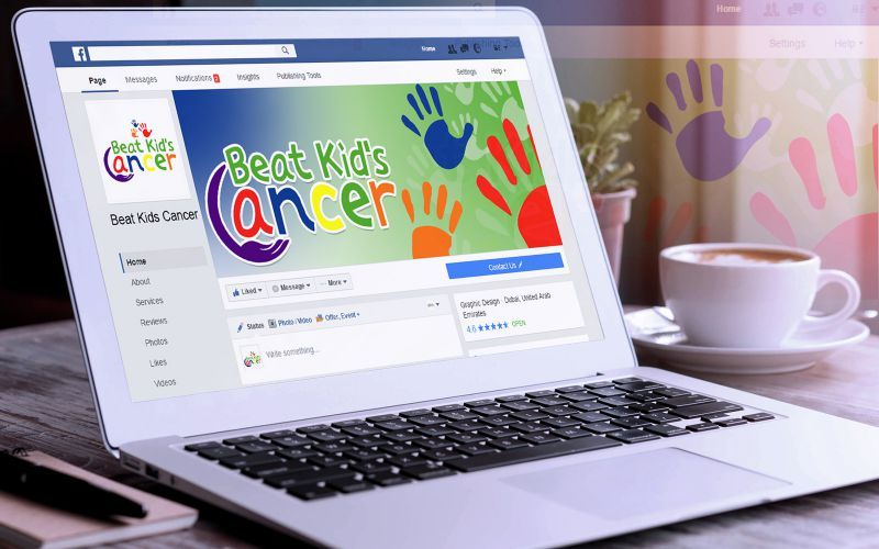BEat Kids Cancer Social Media Design