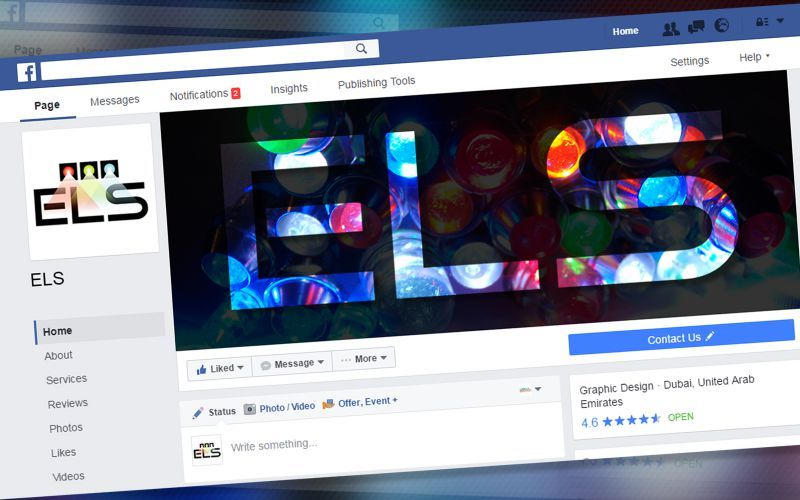 ELS Energy and Lighting Social Media Design