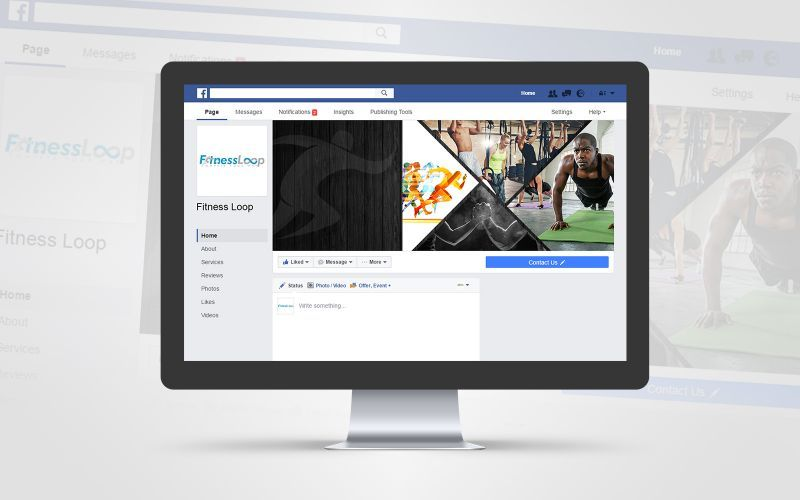 Fitness Loop Social Media Design