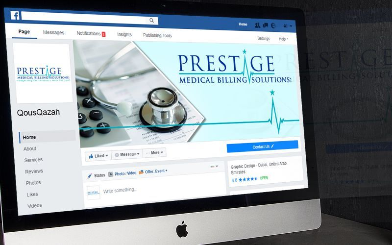 Prestige Medical Billing Social Media Design