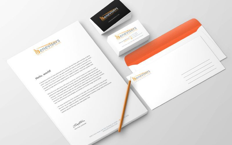 Benevisors Stationery Design