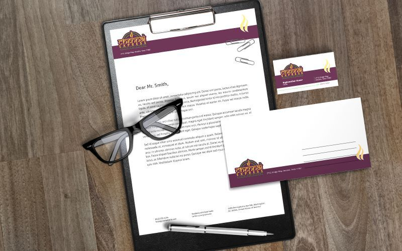 Chennai Express Stationery Design