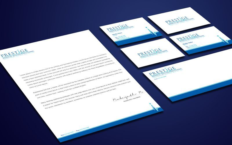 Prestige Medical Stationery Design