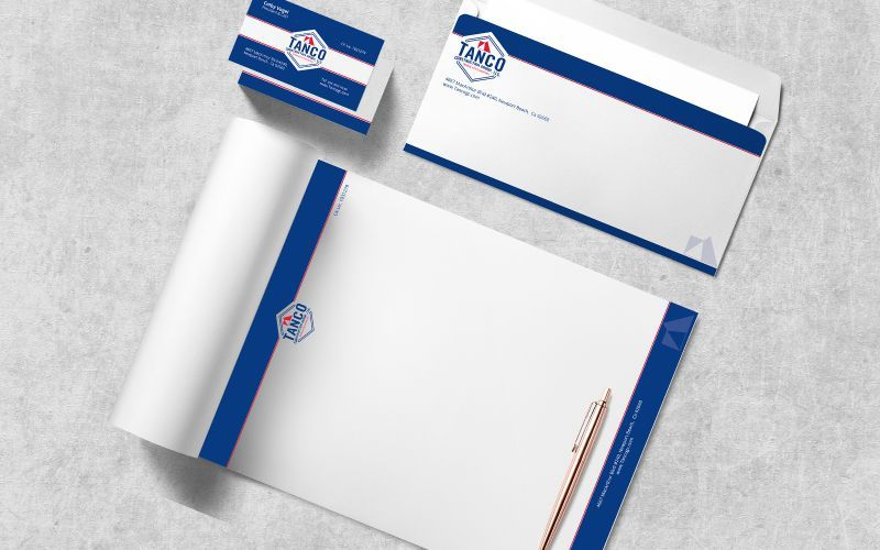 Tanco Construction Stationery  Design
