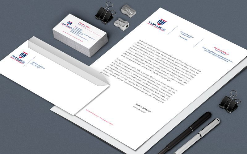 Tartarus Capital Stationery Design