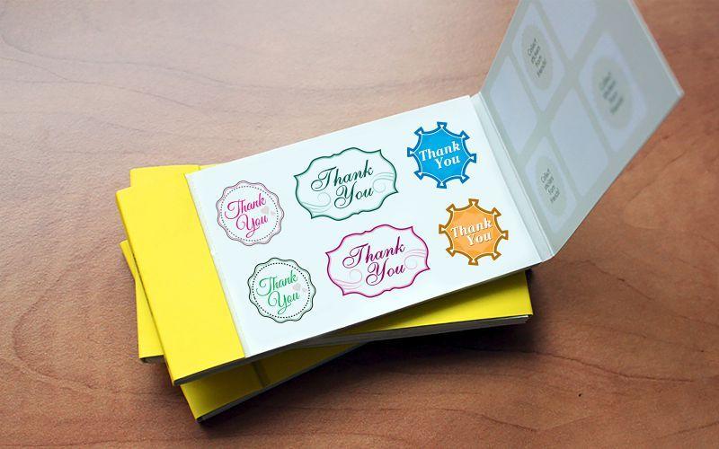 Thank You Sticker Book Design