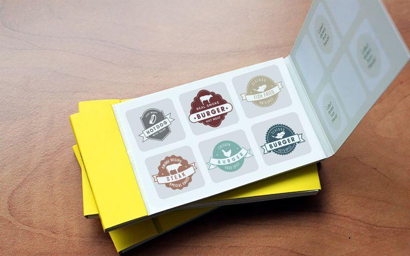 FastFood Sticker Book Design