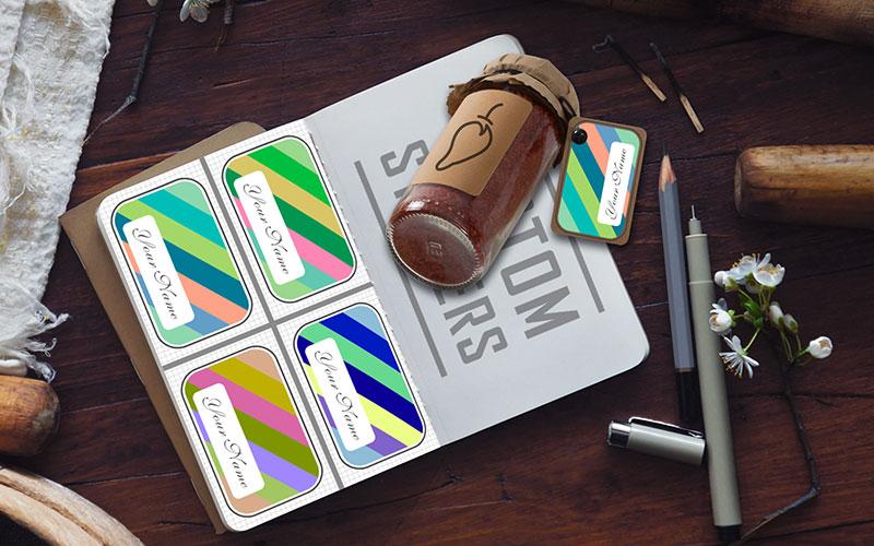 Name Tag Sticker Design