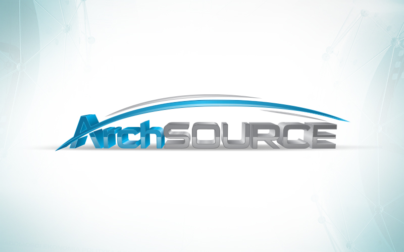 Arch Source 3D logo design