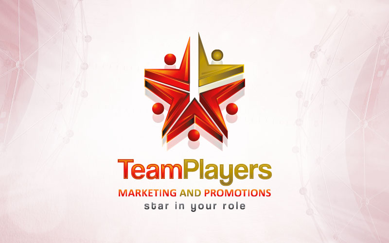 Team Player 3D Logo Design