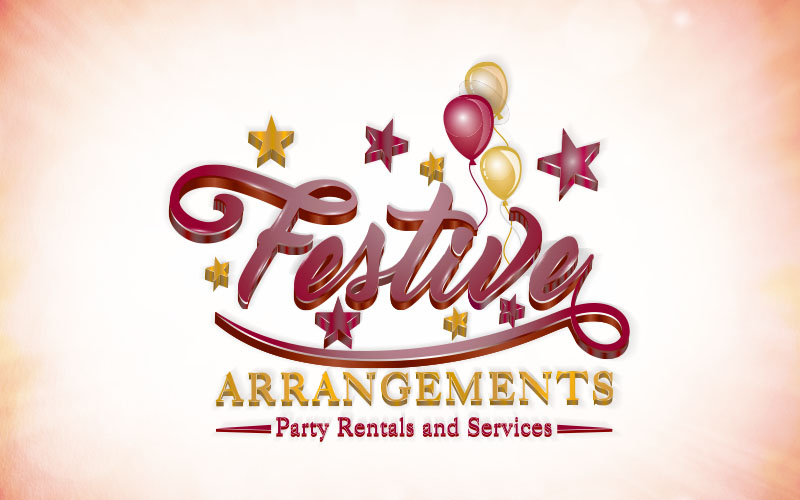 Festive Arrangement 3D Logo Design