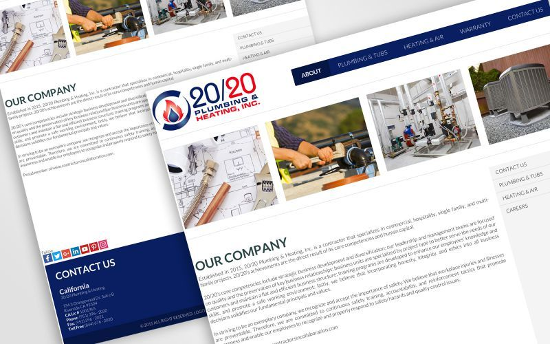 20/20 Plumbing & Heating, INC Website Design