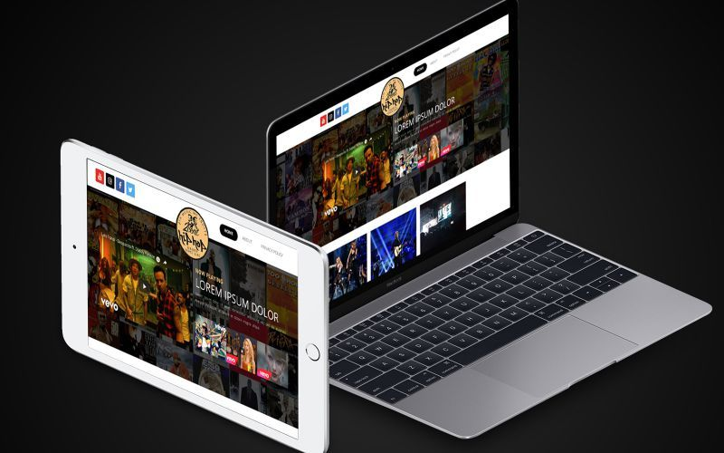 2cent Hip Hop Website Design