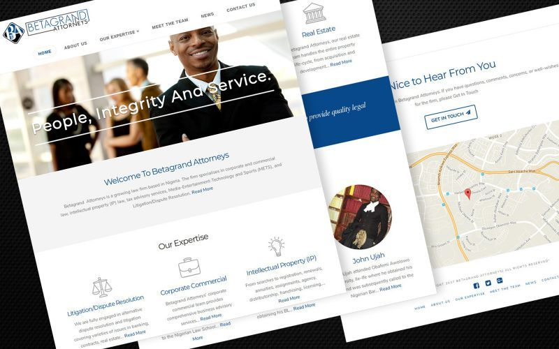 Betagrand Attorneys Website Design