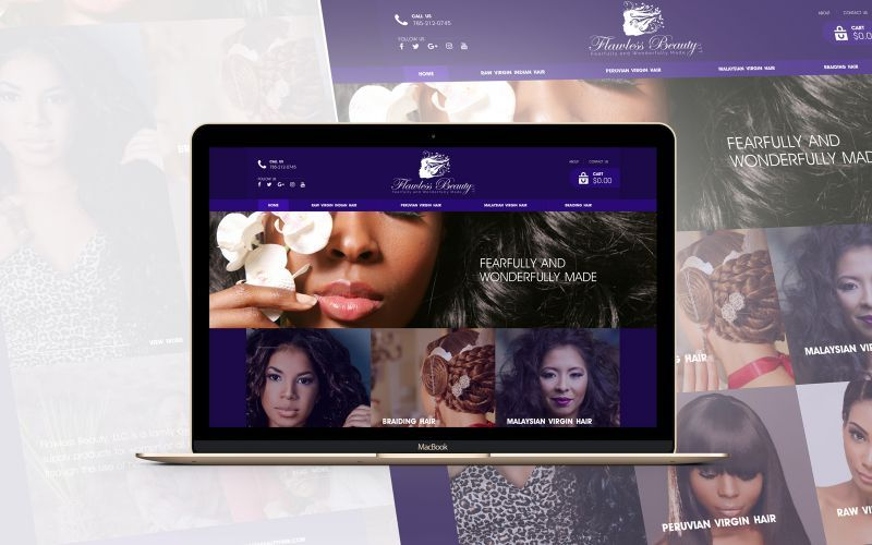 Flawless Beauty Website Design