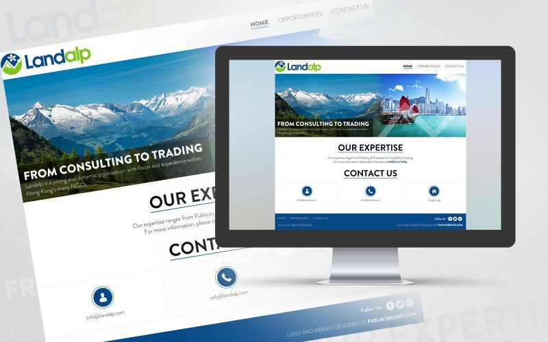 LandAlp Website Design
