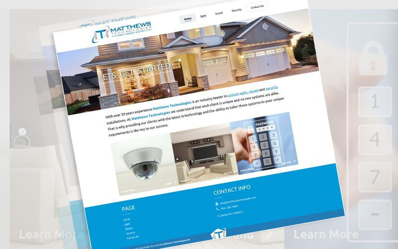 Matthews Technologies Website Design