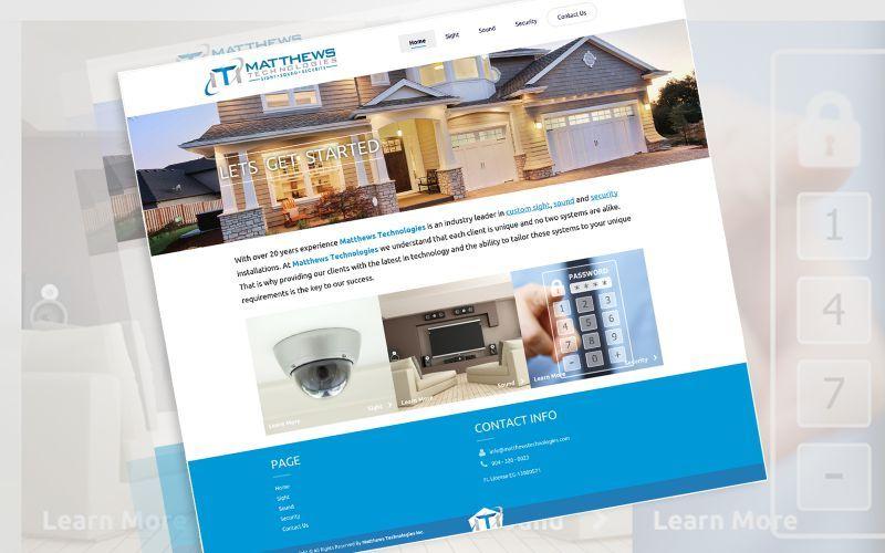 Matthews Technologies Website Design
