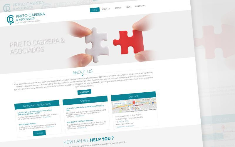 Prieto Cabrera & Asociados Website Design