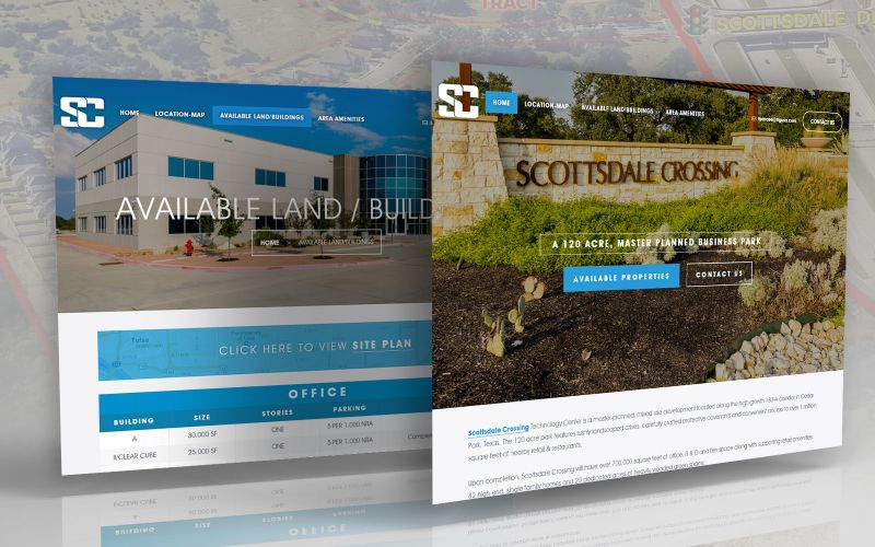 Scottsdale Crossing Website Design
