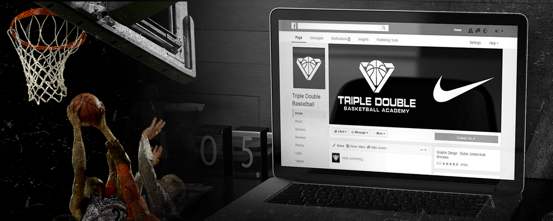 Triple Double Basketball Academy Social Media Design