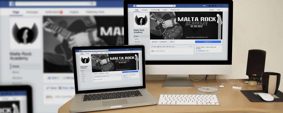 Malta Rock Academy Social Media Design