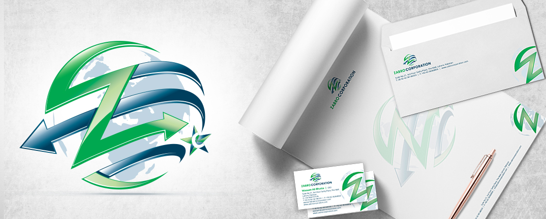 Zabro Corporation Stationery Design