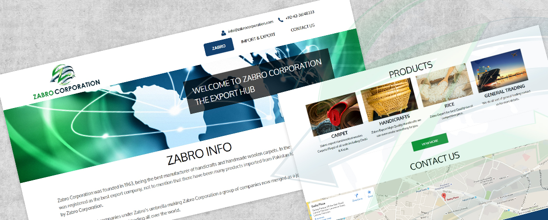 Zabro Corporation Website Design